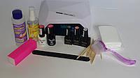 Стартовый набор для покрытия гель-лаком Tertio с LED / CCFL лампой (3 цветных гель-лака)