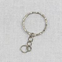Основа для брелка кольцо рифленое с цепочкой