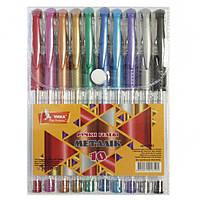Ручки в наборе 10цв. гелевые Умка Metallic ГР42