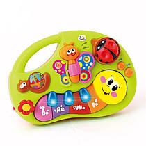 Детское пианино - игра Веселые жучки, обучающее, музыка, свет, 927 или 7553