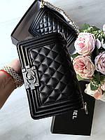 Сумочка Chanel Boy mini  фурнитура серебро (реплика), фото 1