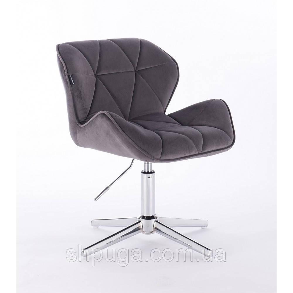 Кресло  HR 111 графитовый велюр