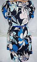 Платье c цветочным принтом женское (креп-софт)