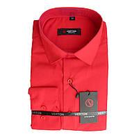 Подростковая рубашка для мальчика Verton длинный рукав приталенная красная