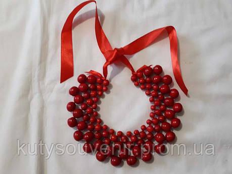 Деревянные красные бусы, фото 2