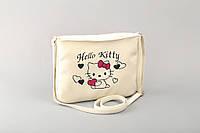 Маленькая женская сумка «Hello Kitty с сердечками»