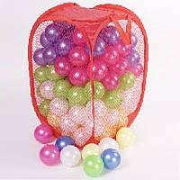 Шарики перламутровые ( Кульки) игровые для палаток, сухих бассейнов на 60 мм 140 штук в сетке, 467