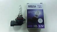 """Лампа галогеновая """"BREVIA"""" HB3 12V 65W P20D POWER +30% - производства Корея"""
