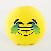 Подушка Смайл LOL желтый флок