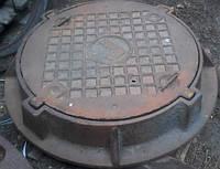 Кришка чавунна люка газового Ду - 700