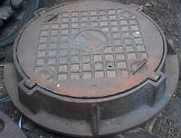 Крышка чугунная люка газового Ду - 700