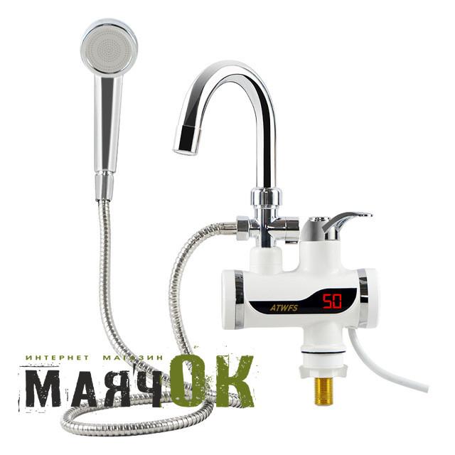 Проточный водонагреватель электрический кран LZ007, с душем, цифровой