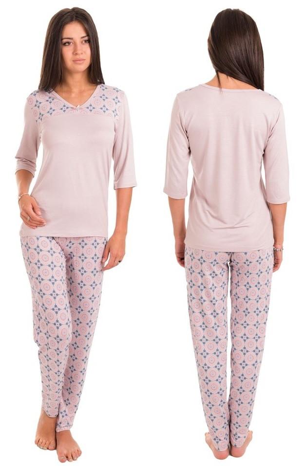 Віскозна піжама домашній комплект жіночий довга футболка і штани піжама віскоза домашня одяг Україна