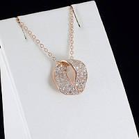 Замечательный кулон с кристаллами Swarovski + цепочка, покрытые золотом 0870