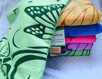 """Красивое метровое полотенце """"Бабочка"""", микрофибра, 100х50 см., 55/46 (цена за 1 шт. + 9 гр.)"""
