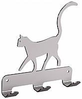Вешалка 3 крючка для полотенец с котом Andex Technic, 334SG