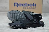 Мужские кожаные сандалии Reebok черные
