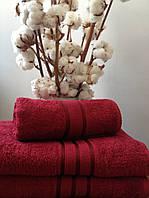 Махровое полотенце 70х140, 100% хлопок 550 гр/м2, Пакистан, Бордо