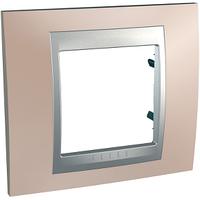 Рамка 1-мод Schneider Electric Unica Оникс медный/Алюминий (MGU66.002.096)