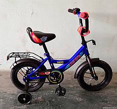 Велосипед детский 12 дюймов С12070 CORSO, звоночек, сидение с ручкой, дополнительные колеса