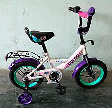 Велосипед детский 12 дюймов С12040 CORSO, звоночек, сидение с ручкой, дополнительные колеса