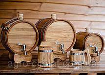 Жбан (бочка) дубовый для напитков 10 лтр., фото 3