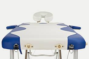 Массажный стол BodyFit, 2 сегментный,2-цветный,алюминьевый, фото 2