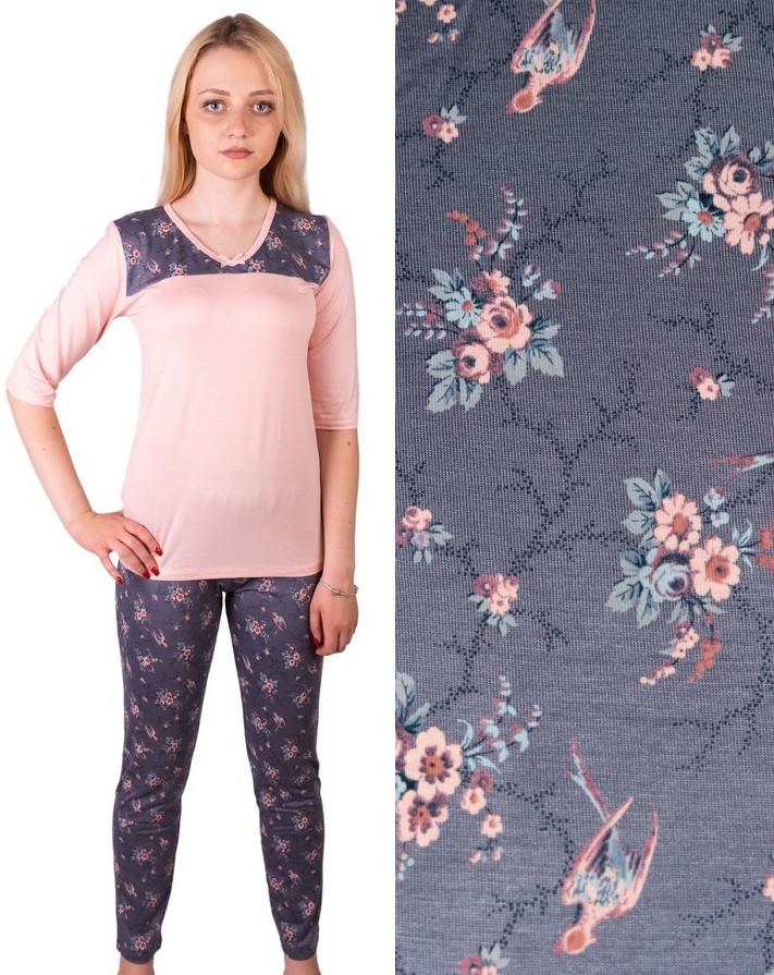 Вискозная пижама домашний комплект женский длинная футболка и брюки пижама  вискоза домашняя одежда Украина e354f6064d5bd
