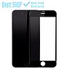Чёрное/Белое IPhone 8 Plus 5D защитное стекло