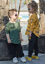 Спортивный детский костюм с нашивками, фото 3