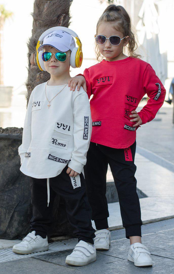 Спортивный детский костюм с нашивками