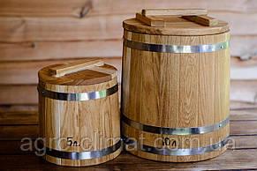 Кадка конусная дубовая 120 литров, фото 2
