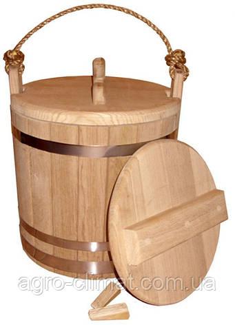 Ведро дубовое для солений 10 литров, фото 2