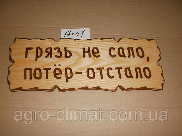 """Табличка """"Бруд не сало, потер - відстало"""" №24, фото 2"""