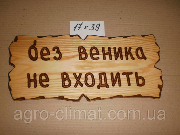 """Табличка """"Без веника не входить"""" №9, фото 2"""