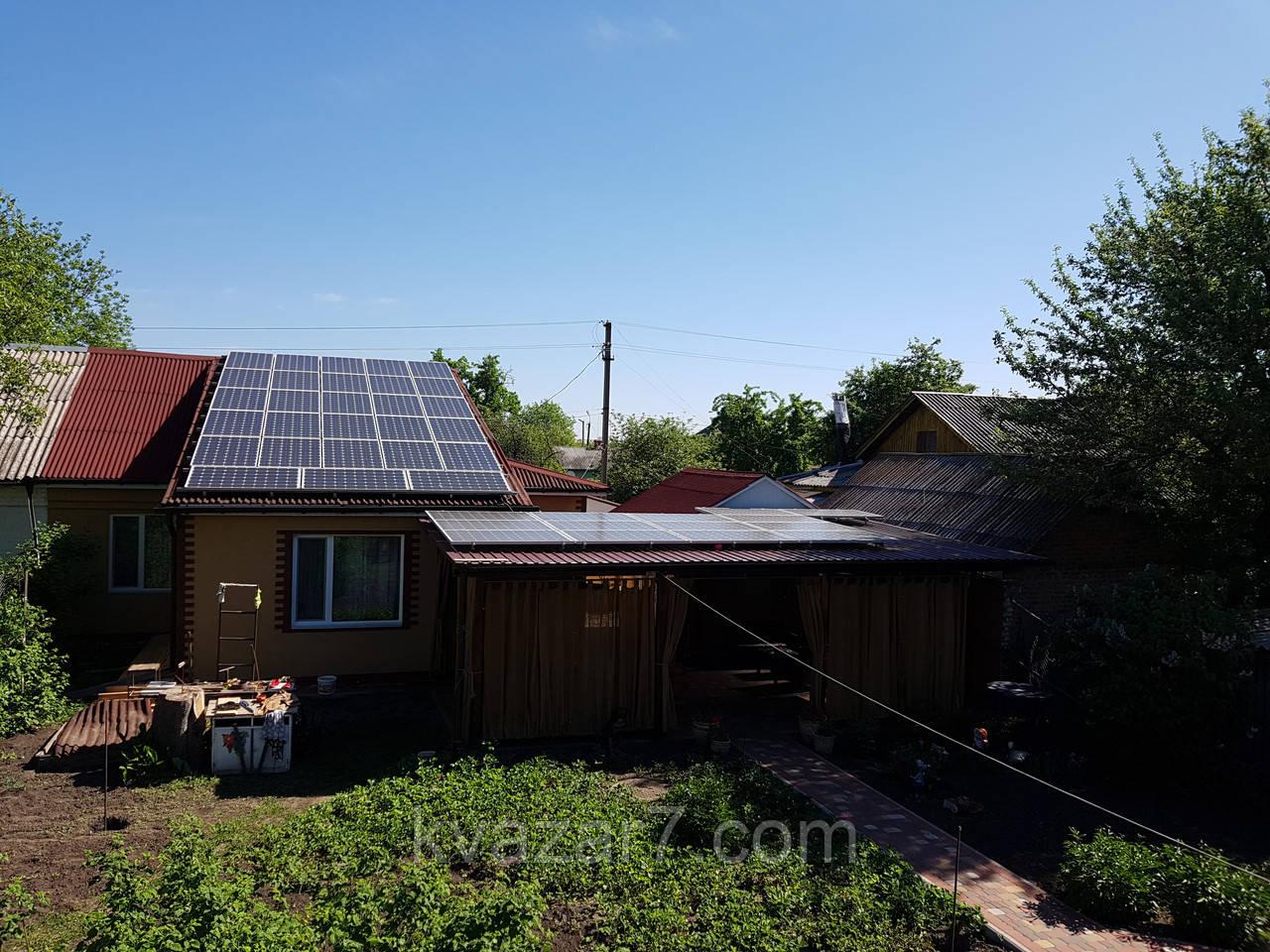 Солнечная электростанция  10 кВт сетевая крышная