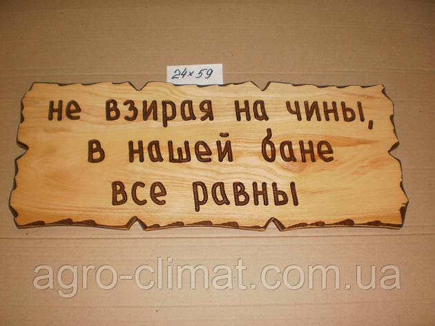 """Табличка """"Не дивлячись на чини, в нашій лазні-всі рівні"""" №39, фото 2"""