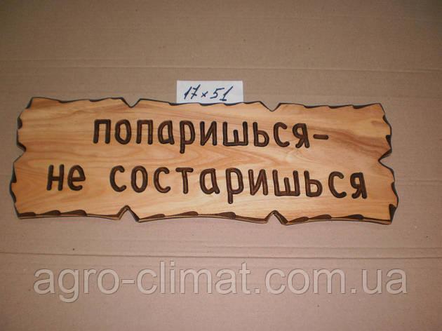 """Табличка """"Попаришься – не состаришься"""" №43, фото 2"""