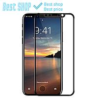 Чёрное/Белое IPhone X 5D защитное стекло