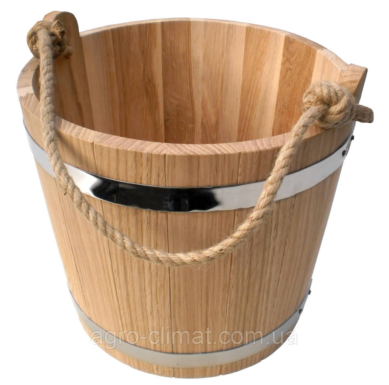 Ведро для бани 15 л. (эконом)