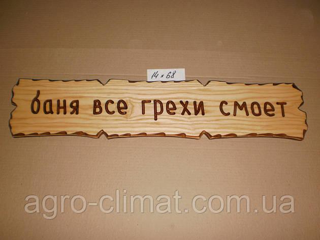 """Табличка """"Баня все грехи смоет"""" №14, фото 2"""