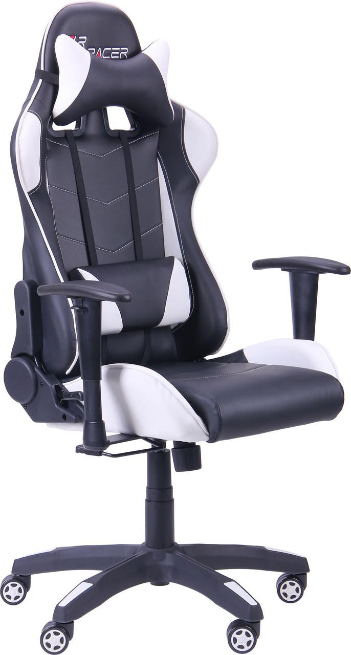 Геймерское кресло VR Racer Blade чёрный/белый