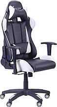 Геймерское кресло VR Racer Blade чёрный/белый AMF