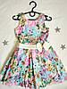 """Детское нарядное  платье """"Джиа"""" размер 4-7 лет, цветочный"""