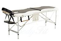 Массажный стол BodyFit, 2 сегментный,2-цветный,алюминьевый Черный