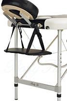 Массажный стол BodyFit, 3 сегментный,2-цветный,алюминьевый Черный, фото 2