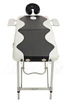 Массажный стол BodyFit, 2 сегментный,2-цветный,алюминьевый Черный, фото 3