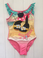 Цельный детский купальник с рюшами для девочки C&A Германия Размер 98-104