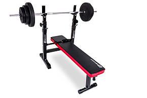 Набор Elitum TITAN штанга и гантели 48 кг со скамьей HS 1080, фото 2