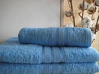Махровое полотенце 70х140, 100% хлопок 550 гр/м2, Пакистан, Голубой